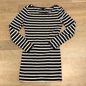 Forever 21 Black & White Striped Bodycon Dress